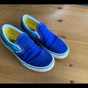 Vans Gamer 4 Youth Slip On Skater Shoes Blue